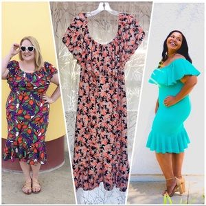 LuLaRoe floral convertible off the shoulder dress